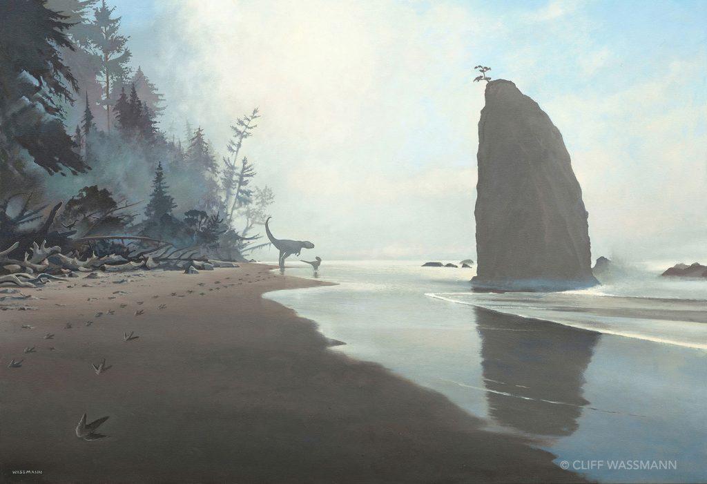 Dinosaurs on the beach