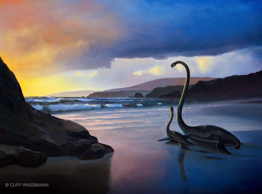 Plesiosaurs on Strands Beach